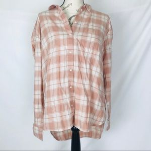 Madewell plaid button up tunic